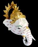 White Ganesha Thailand Khon mask head Royalty Free Stock Images
