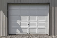 White Garage Door Stock Photo
