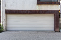 White garage door Royalty Free Stock Images