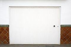 White garage door Stock Photography