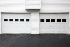 White garage doors Royalty Free Stock Image