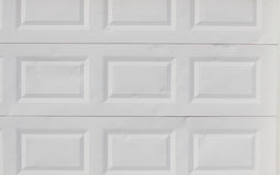White garage doors Stock Image