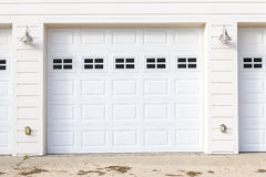 White Garage Royalty Free Stock Photos