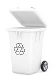 White Garbage Trash Bin Royalty Free Stock Photography