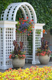 White garden archway Royalty Free Stock Photos