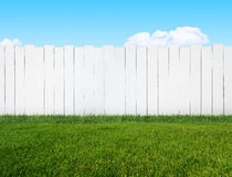 White garden fence Royalty Free Stock Images