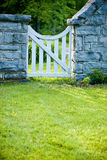 White Garden Gate Stock Photography