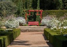 White garden in the picturesque Jardins du Manoir d Eyrignac in Dordogne. France stock photography