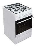 White gas cooker with clipping path Royalty Free Stock Photography