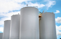 White gas or fuel containers Royalty Free Stock Photo