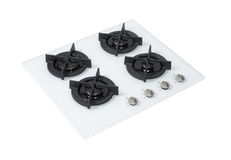 White gas hob Royalty Free Stock Photography