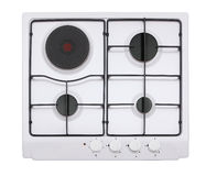 White gas hob Royalty Free Stock Photos