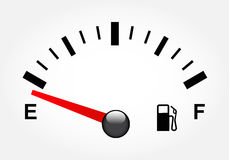White gas tank illustration. On white Stock Photo