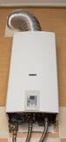 White gas water heater Stock Photo