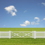 White Gate Royalty Free Stock Photography