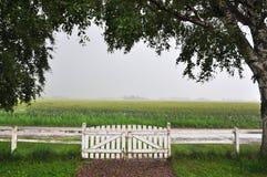 White gate Royalty Free Stock Image