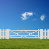 White Gate Stock Images