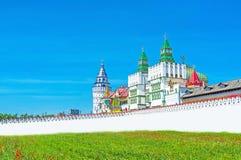The white Gate of Izmailovsky Kremlin Stock Images