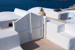 White gate Stock Photo