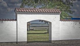 White gateway Royalty Free Stock Image