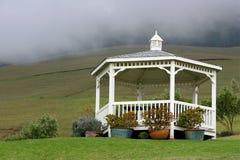 White gazebo Royalty Free Stock Photo