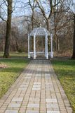 White Gazebo Royalty Free Stock Photos