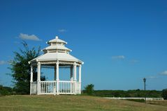 White Gazebo Stock Images