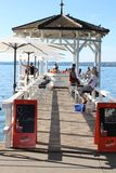 White gazebo bar on bodensee, bregenz Stock Photo