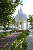 White gazebo by a beach Stock Photos
