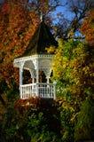 White Gazebo, Fall Colors stock images