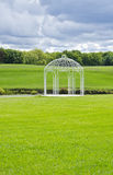 White Gazebo in a Picturesque Setting Stock Photos
