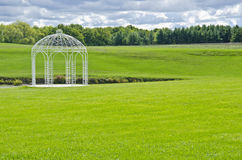 White Gazebo by a Pond #2 Stock Photography