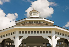 White gazebo roof Royalty Free Stock Image