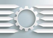 White Gear Centre Long Arrows Stock Image