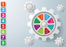 White Gear Colorful Centre And rectangles 8 Options Stock Photography