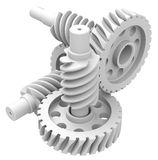 The white gear Stock Images