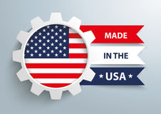 White Gear Made In USA Stock Images