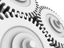 White gears Stock Photography
