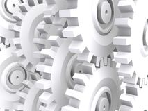 White gears Stock Photos