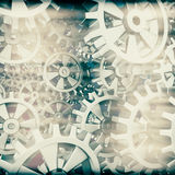 White gears and cogs macro Royalty Free Stock Images