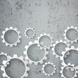 White Gears Concrete stock illustration