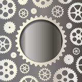 White gears on a dark background Royalty Free Stock Photo