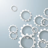 White Gears 2. White gears on the grey background. Eps 10  file Stock Photo
