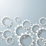 White Gears 3 Royalty Free Stock Images