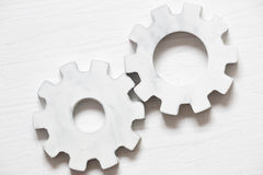 White gears - industrial background Royalty Free Stock Images