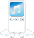 White generic mp3 player Royalty Free Stock Photo