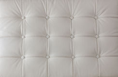 White genuine leather upholstery Stock Photos