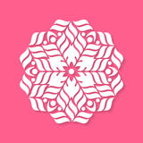 White geometric abstract round mandala. Illustration Royalty Free Stock Image