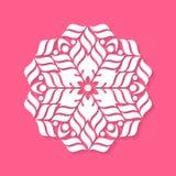 White geometric abstract round mandala Royalty Free Stock Image