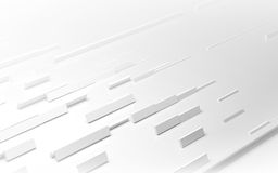 White geometric architectural construction background. 3D render Stock Photos